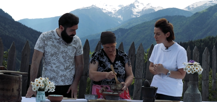Entdecke die georgische Küche, Kochen fürs Videoprojekt