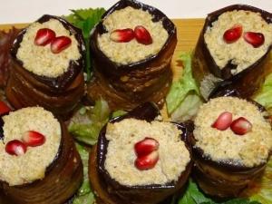 Georgische Küche, Aubergine mit Nussgewürzmischung