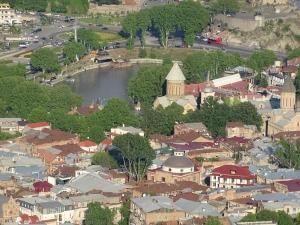 Allgemeine Route durch Tbilissi, Blick auf Altstadt