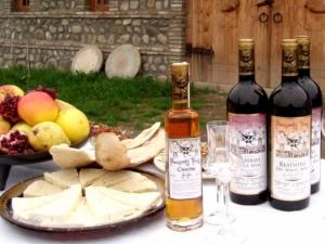 Georgische Speisen und Wein