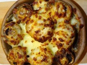 Pilze mit Käse