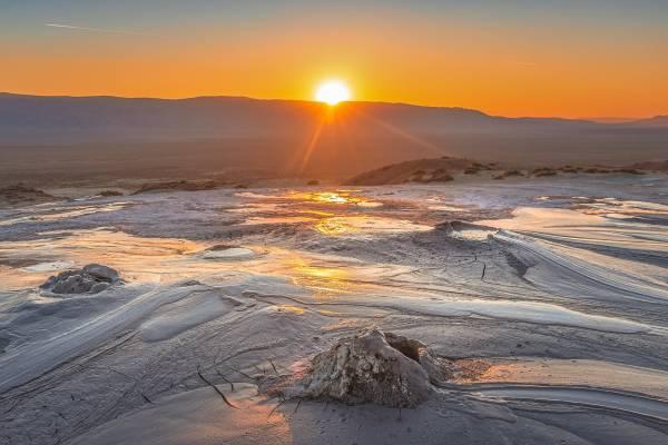 Nationalpark-Waschlowani, Sonnenuntergang